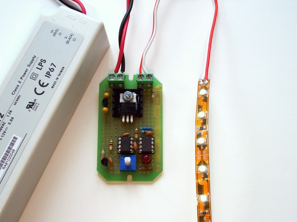Universal Cc Cv Led Dimmer Jameco Part No Pdf Wallpapers Quiz Buzzer Circuit Step 9 Test Completed Constant Voltage Version In Addition To The Leds And Appropriate Power