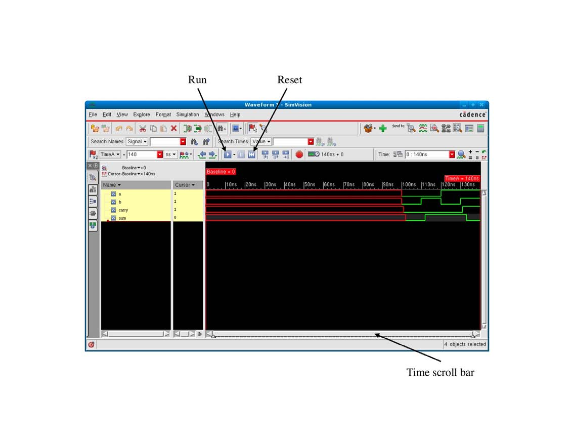 Comp12111 Fundamentals Of Computer Engineering Pdf Here Is A Logicsim Circuit File Implementing Full Adder Click 38 Figure 411 Simvision Waveform Viewer Compare The Simulated Behaviour Your Before