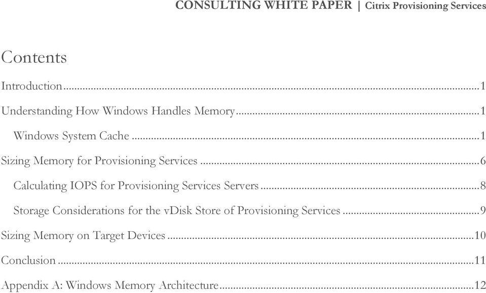 Advanced Memory and Storage Considerations for Provisioning