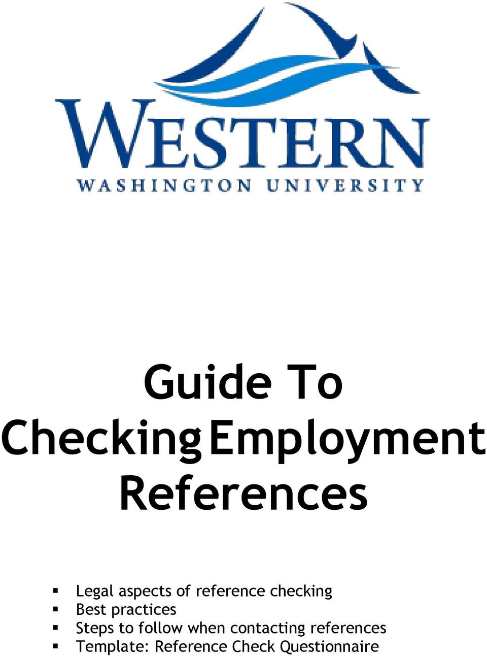 guide to checking employment references pdf