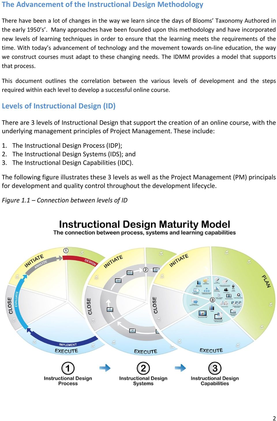 The Instructional Design Maturity Model Approach For Developing Online Courses Pdf Free Download