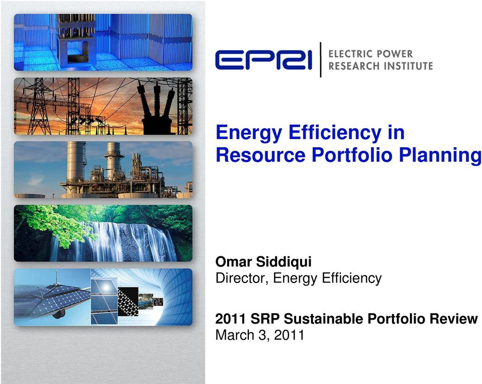 Director, Energy Efficiency i 2011
