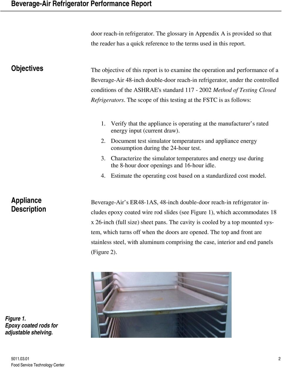 Beverage-Air Refrigerator Performance Testing - PDF on
