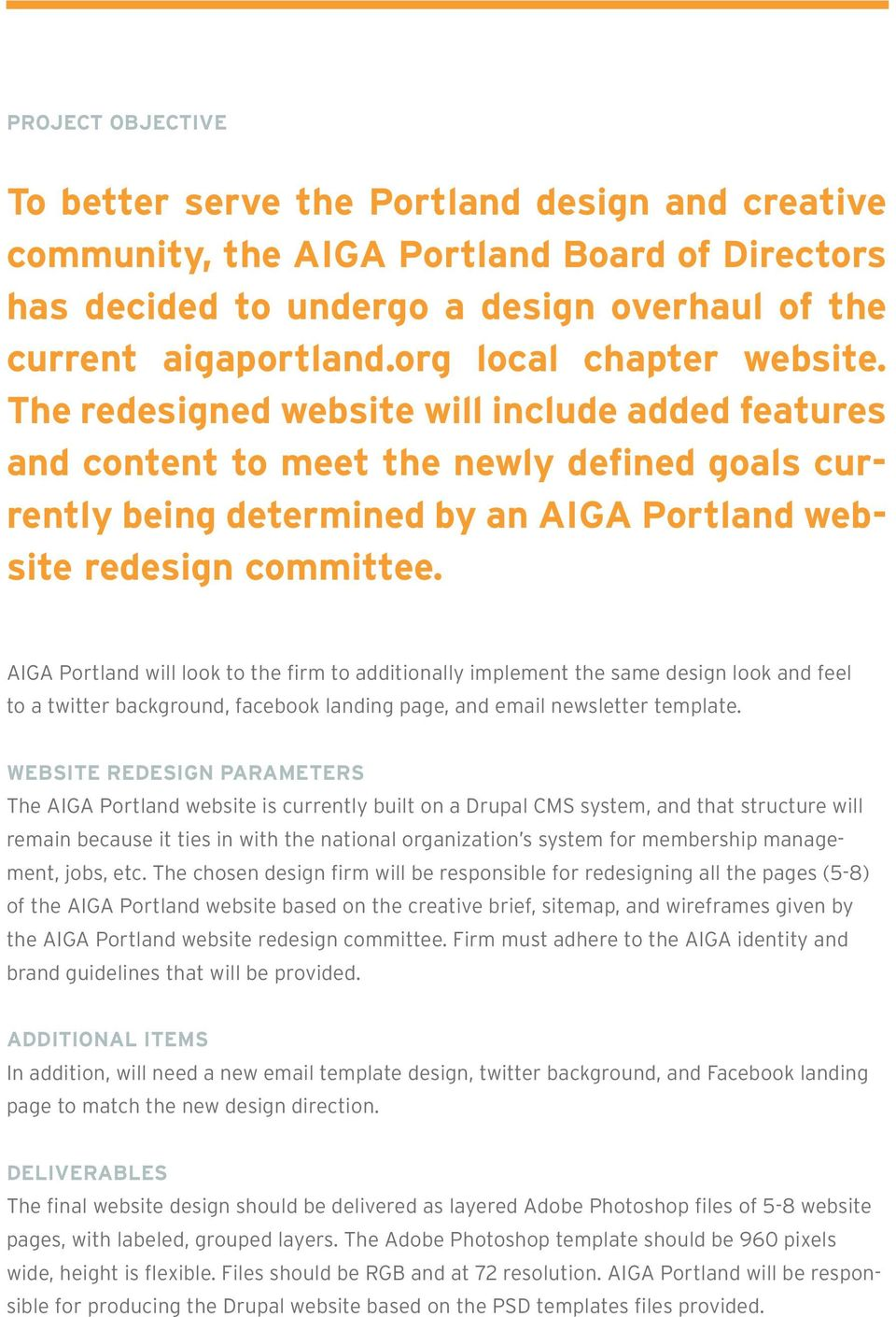 Aiga Portland Is Looking For An Interactive Design Partner To