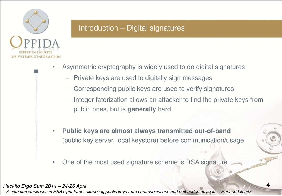 A common weakness in RSA signatures: extracting public keys