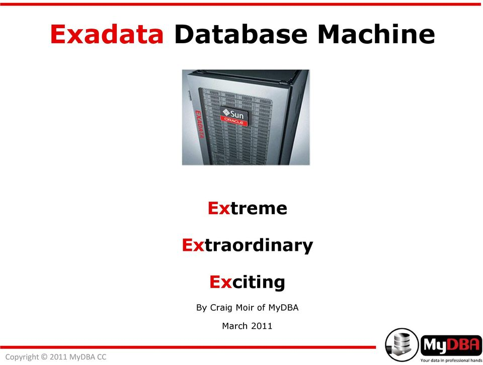 Exadata Database Machine Administration Workshop Download