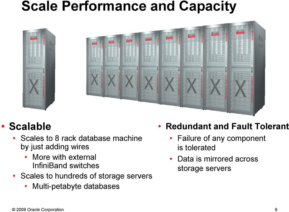 servers Multi-petabyte databases Redundant and Fault Tolerant Failure of any