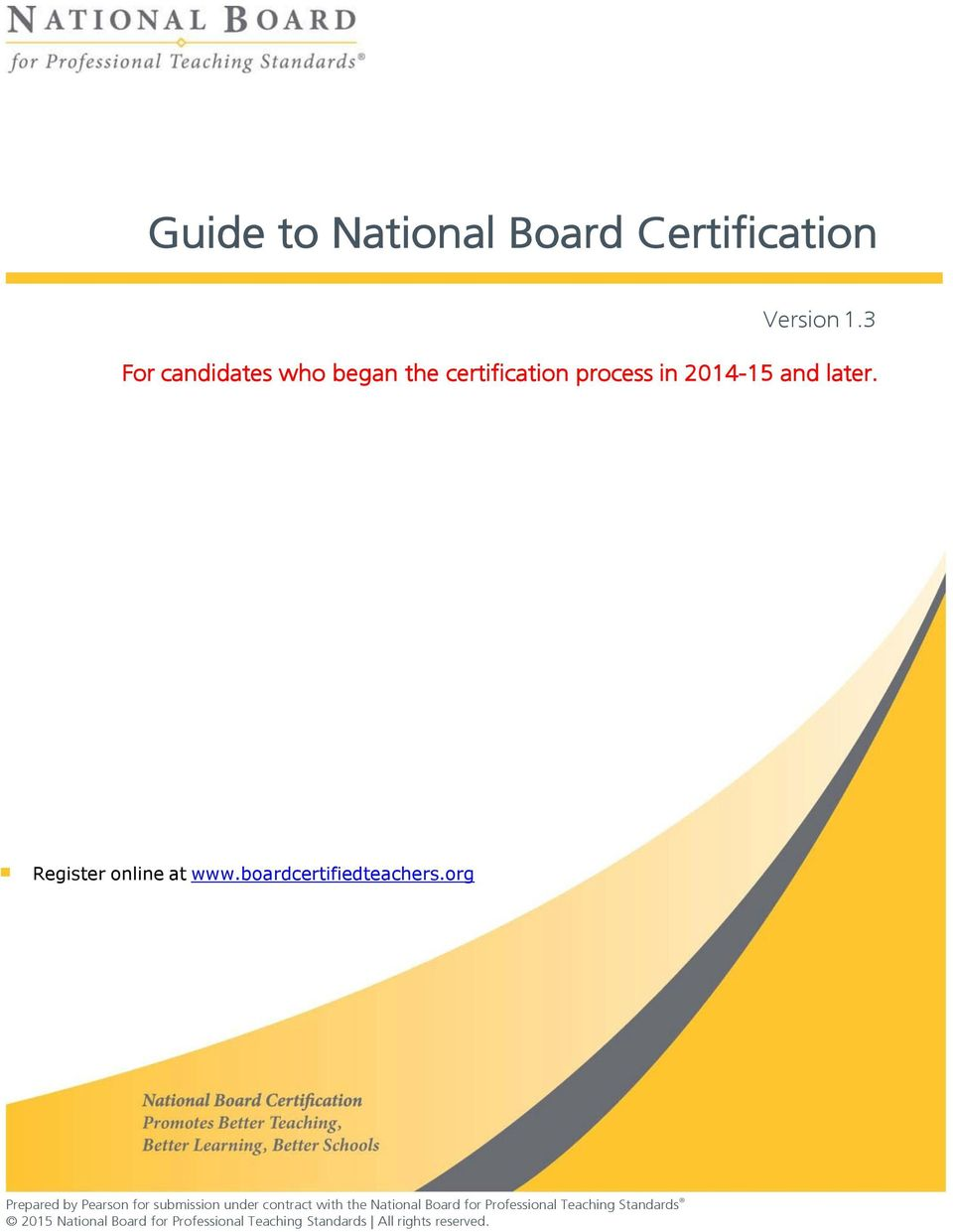 Guide To National Board Certification Pdf