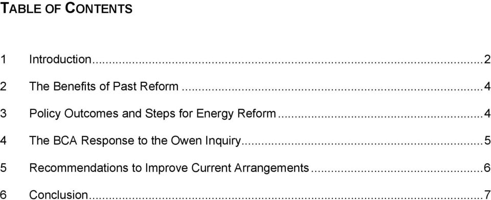 ..4 3 Policy Outcomes and Steps for Energy Reform.