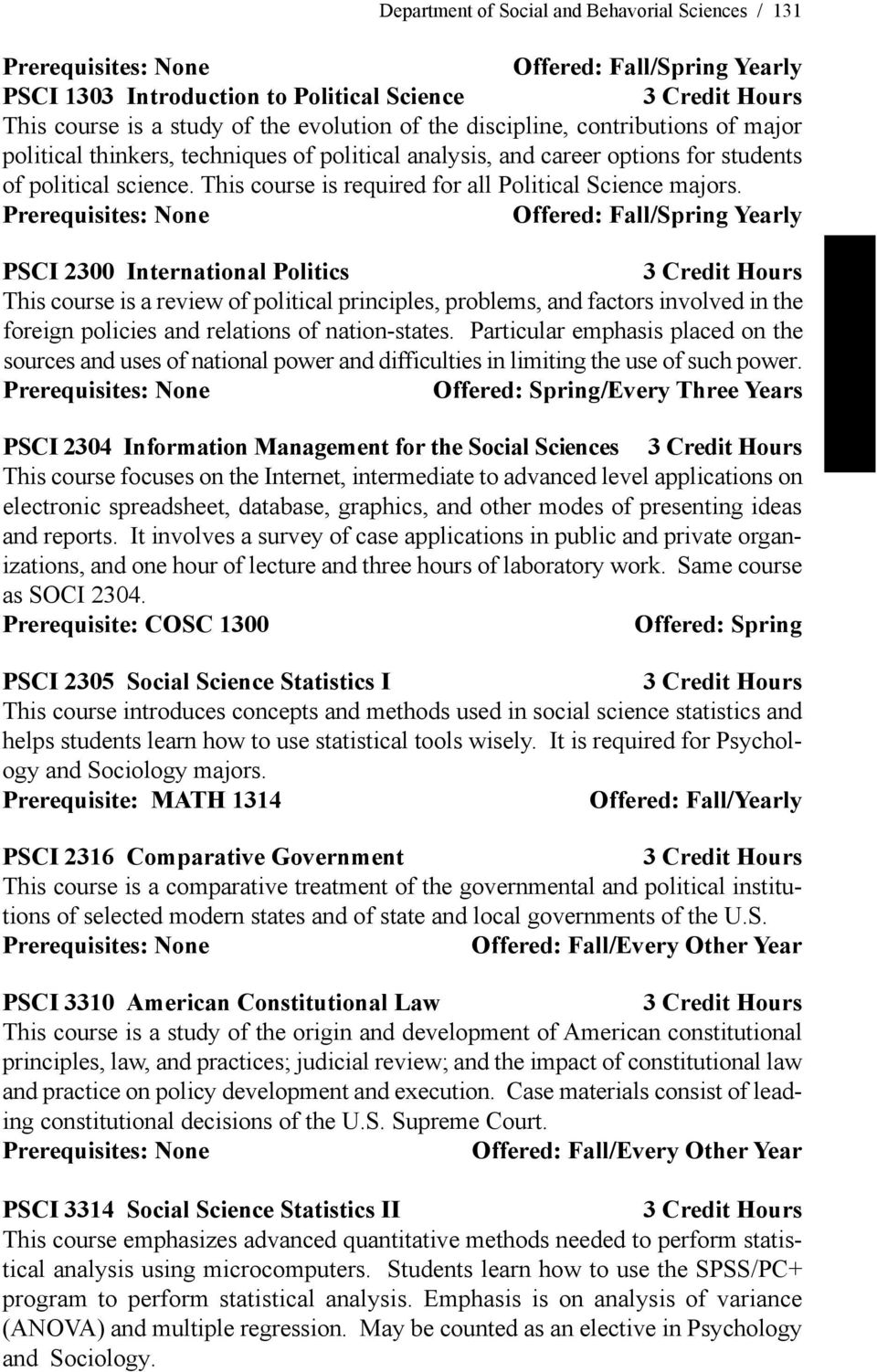 THE BACHELOR OF ARTS DEGREE IN POLITICAL SCIENCE (PSCI) - PDF