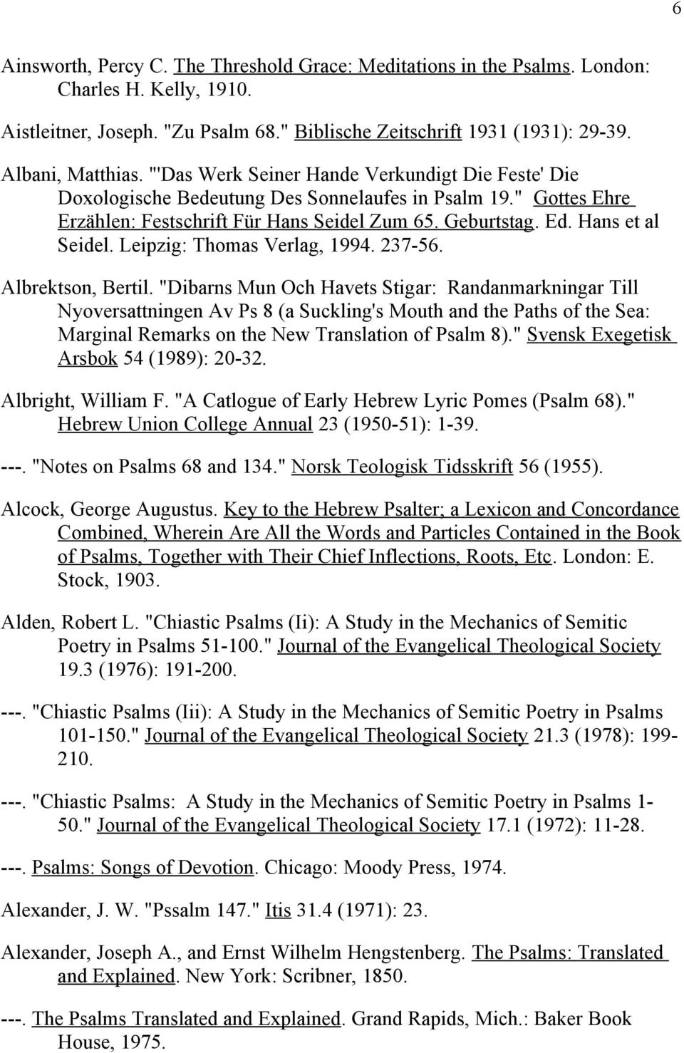 Psalms Bibliography Rough and Working (3/1/05) - PDF