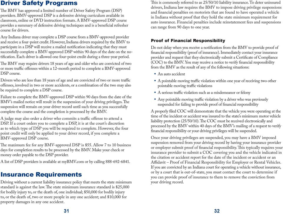 Points, Suspension and Insurance Requirements - PDF