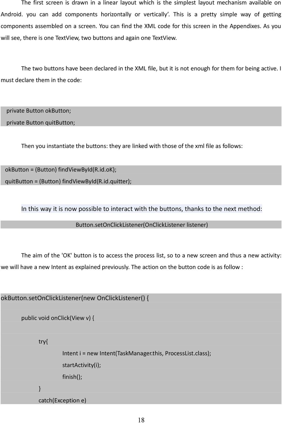 PROJECT REPORT  Android Application - PDF
