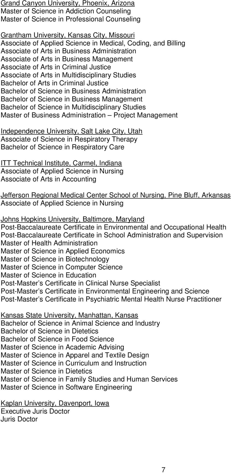 The Institution S Name Program Title And Program Summary Are
