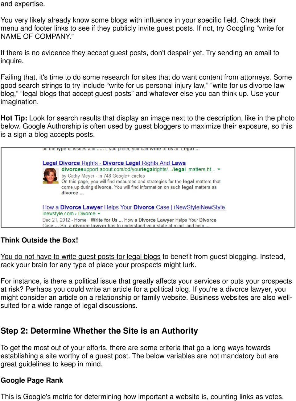 Step-by-Step Guest Blogging for Lawyers - PDF