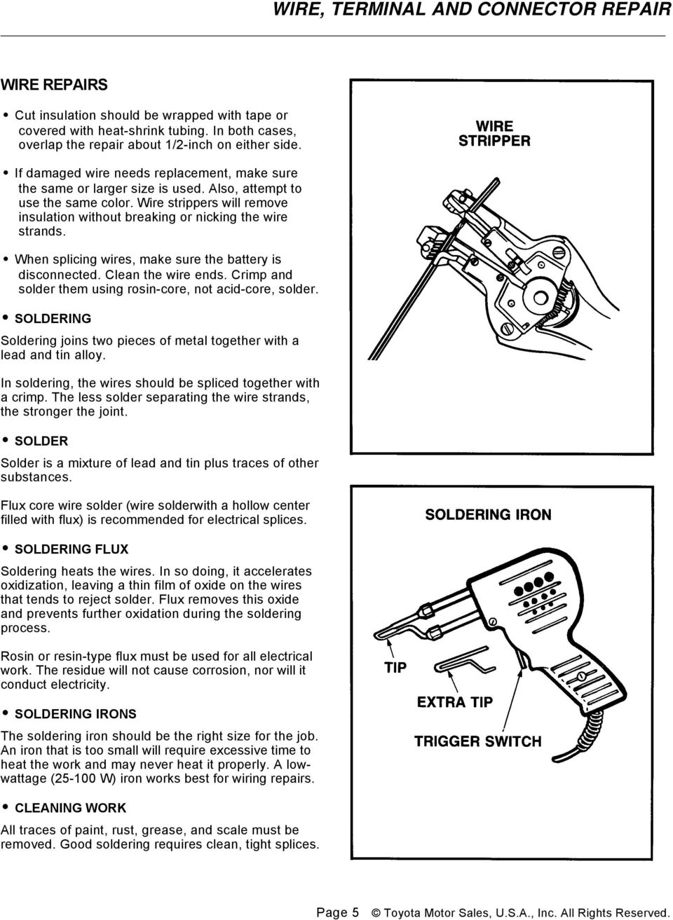 Wire Terminal And Connector Repair Conductors Pdf 2004 Honda Odyssey Wiring Harness Melted When Splicing Wires Make Sure The Battery Is Disconnected Clean Ends