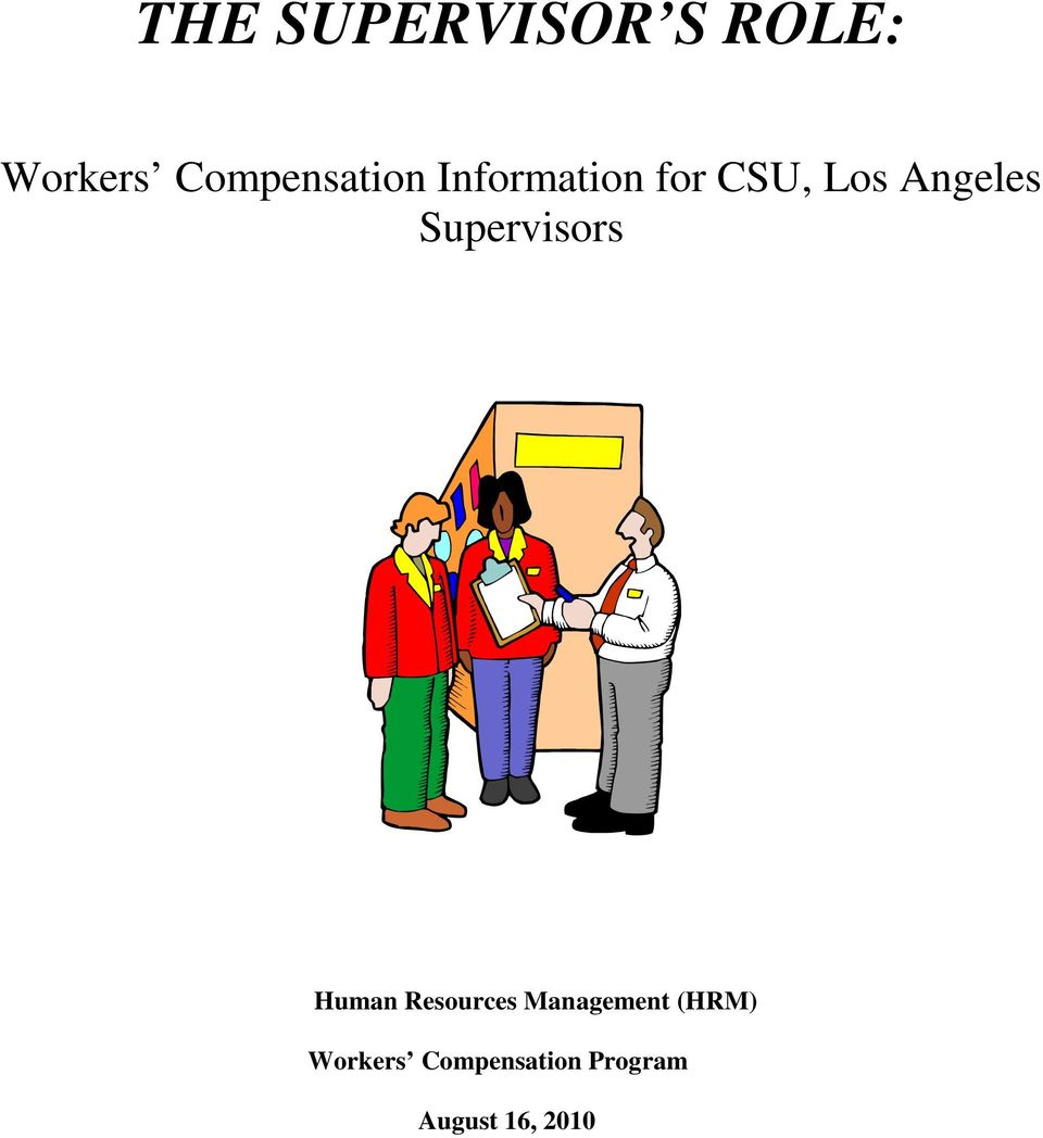 Angeles Supervisors Human Resources