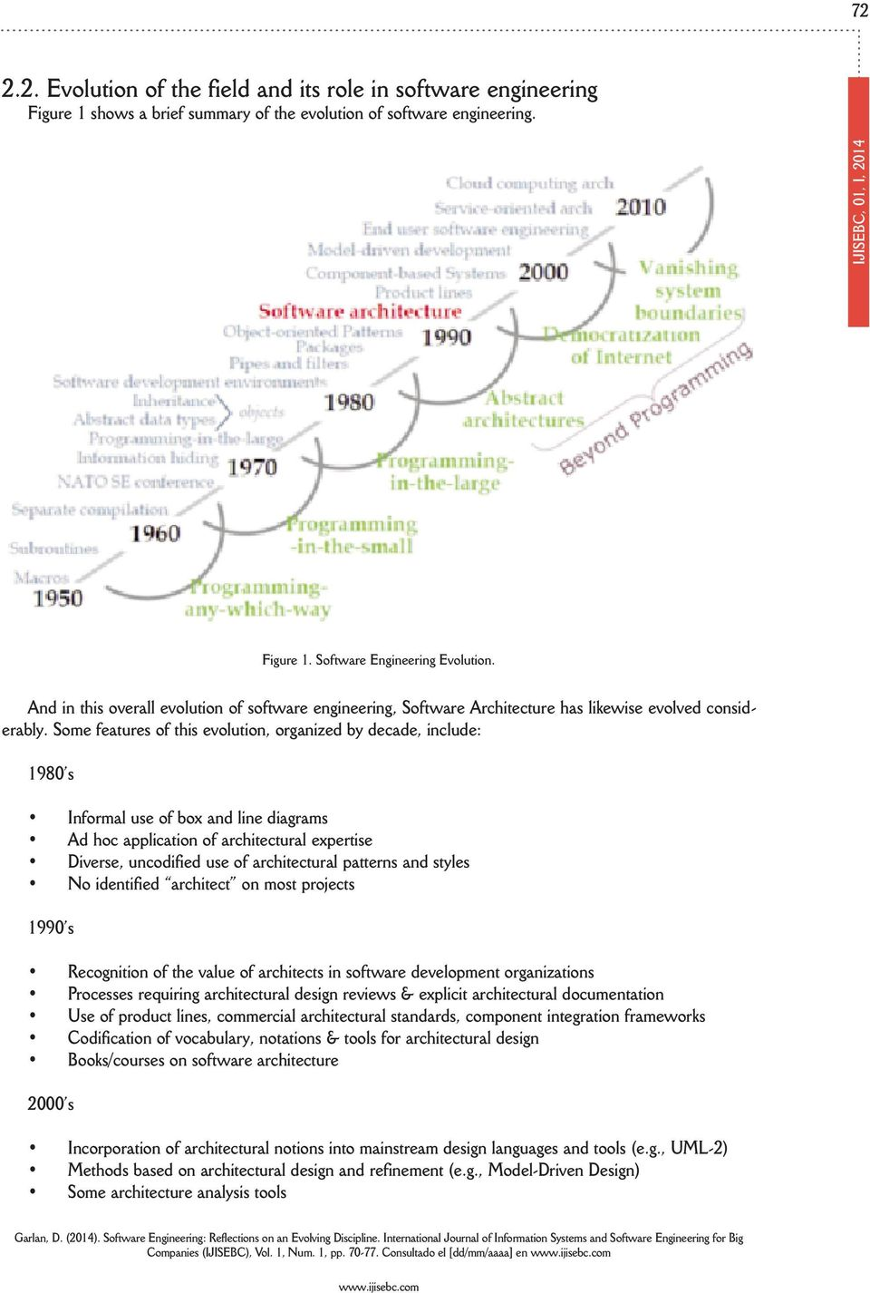 Software Engineering: Reflections on an Evolving Discipline