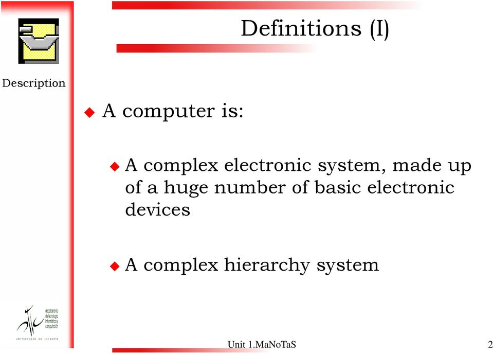 of a huge number of basic electronic