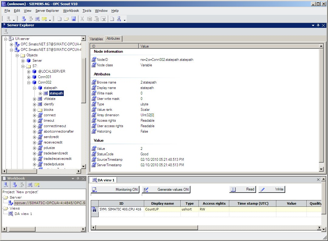 Programming an OPC UA NET Client with C# for the SIMATIC NET