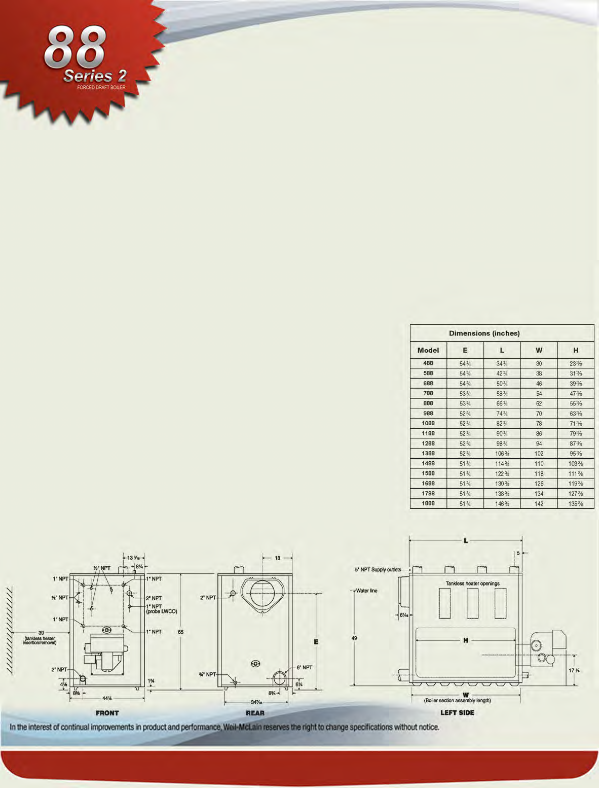 Weil Mclain Price Page Index Pdf Boiler Schematic Diagram Optional Equipment On All Burners Decsription Lights Non Alarm Function 7 1280 Oil