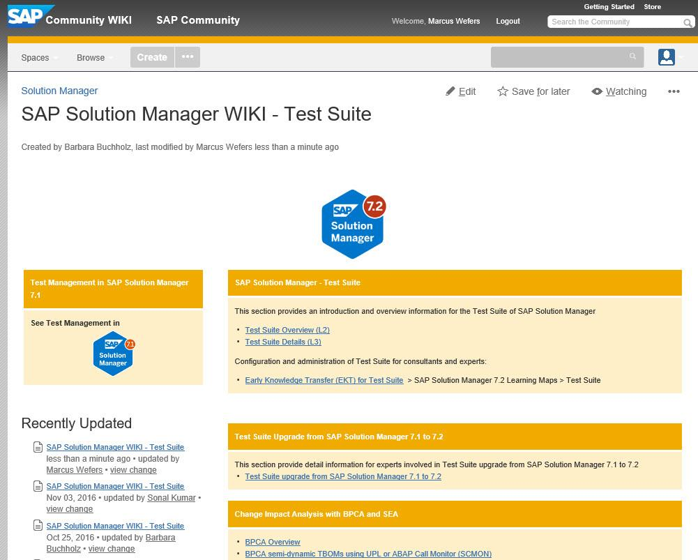 SAP Solution Manager 7 2 Test Suite Overview and Details