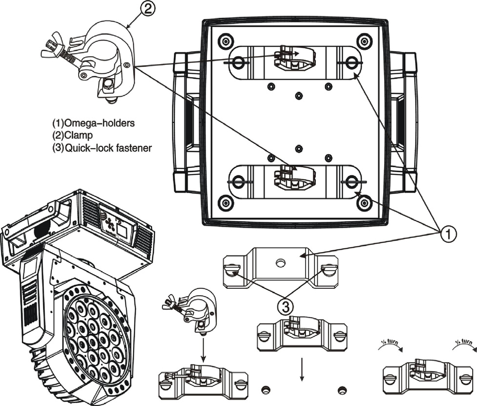 solawash 19 led user manual pdf chapter 2 solawash 19 led setup and configuration mounting the fixture upright caution do not