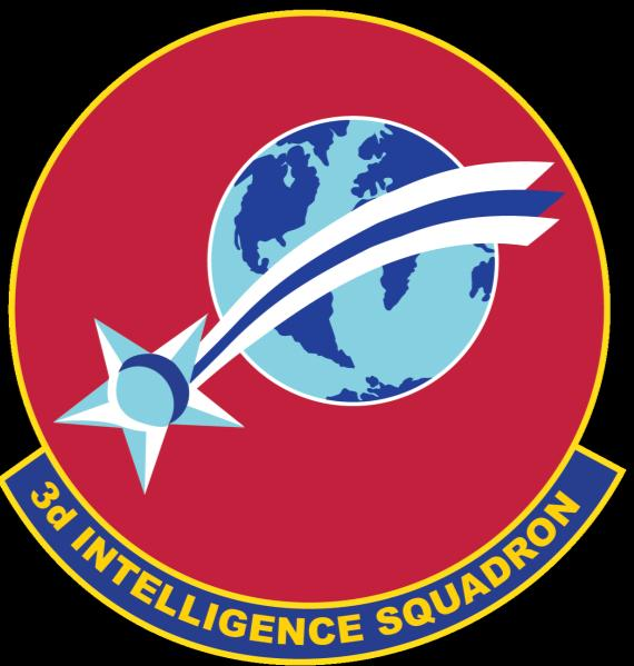 3RD INTELLIGENCE SQUADRON 480th Intelligence Surveillance And Reconnaissance Wing Lineage Constituted As The 3rd