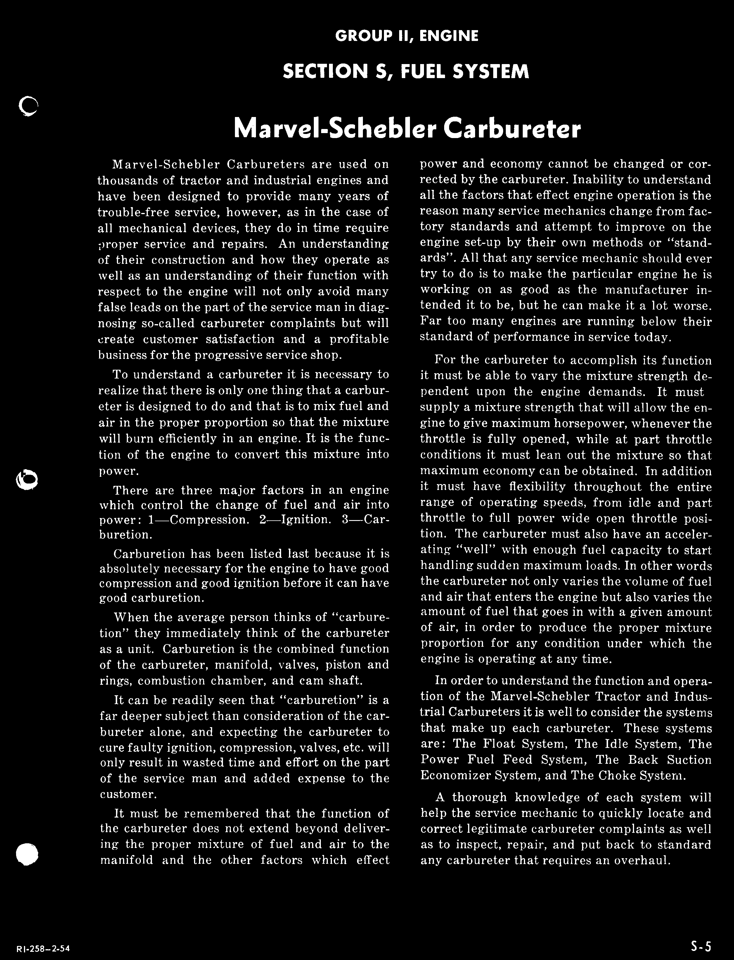 Marvel-Schebler Carbureter - PDF