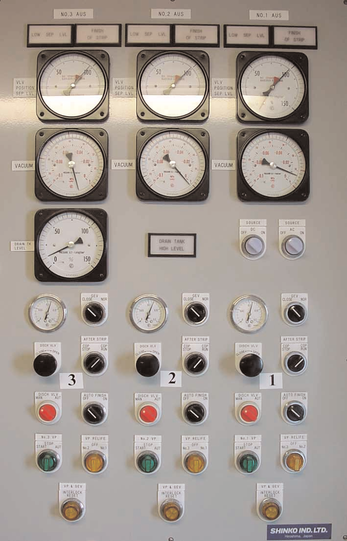 AUS Stripping System Control Panel