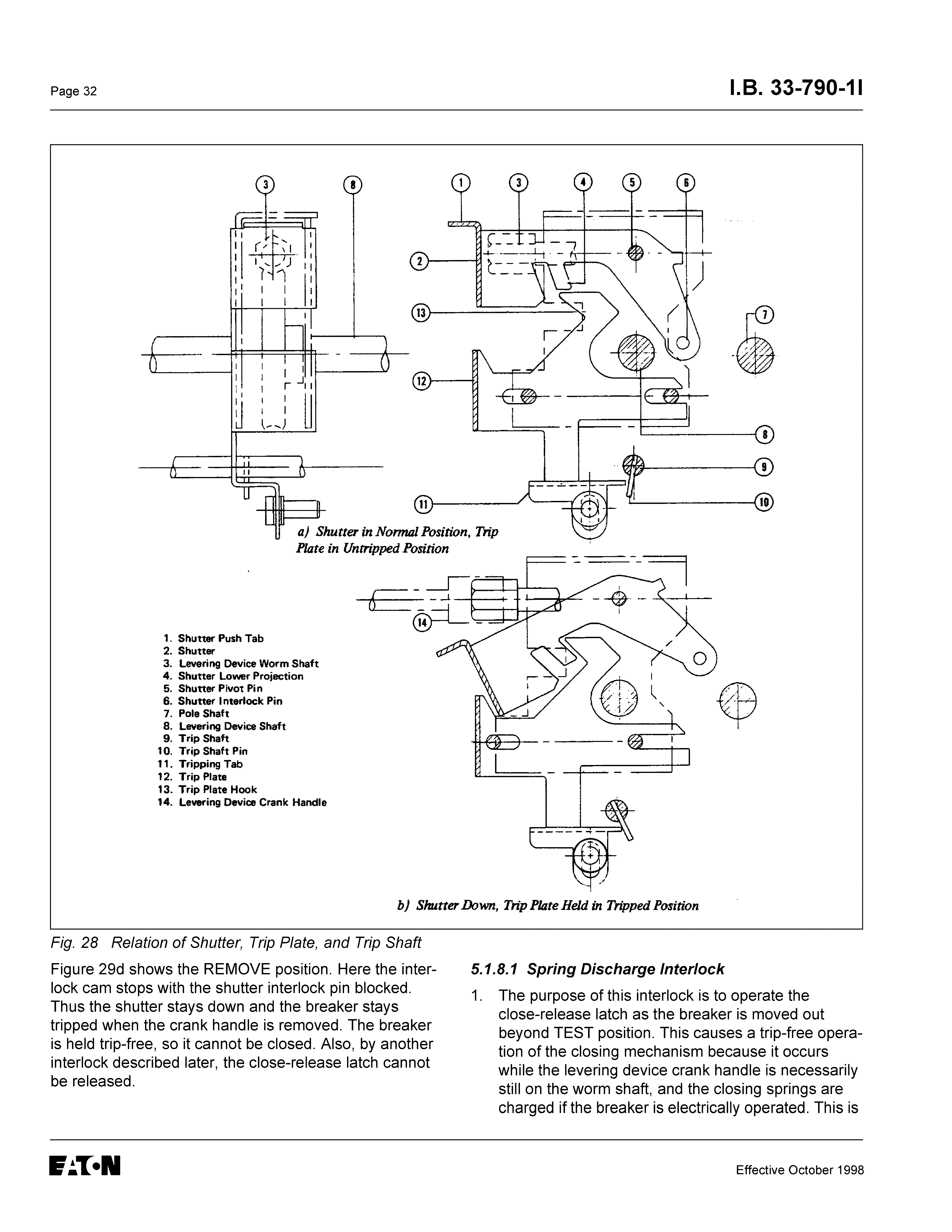 Instructions For Low Voltage Power Circuit Breakers Types Ds And Dsl Tripping Breaker Dishwasher Keeps Page 32 18 33 790 11 8 I L C