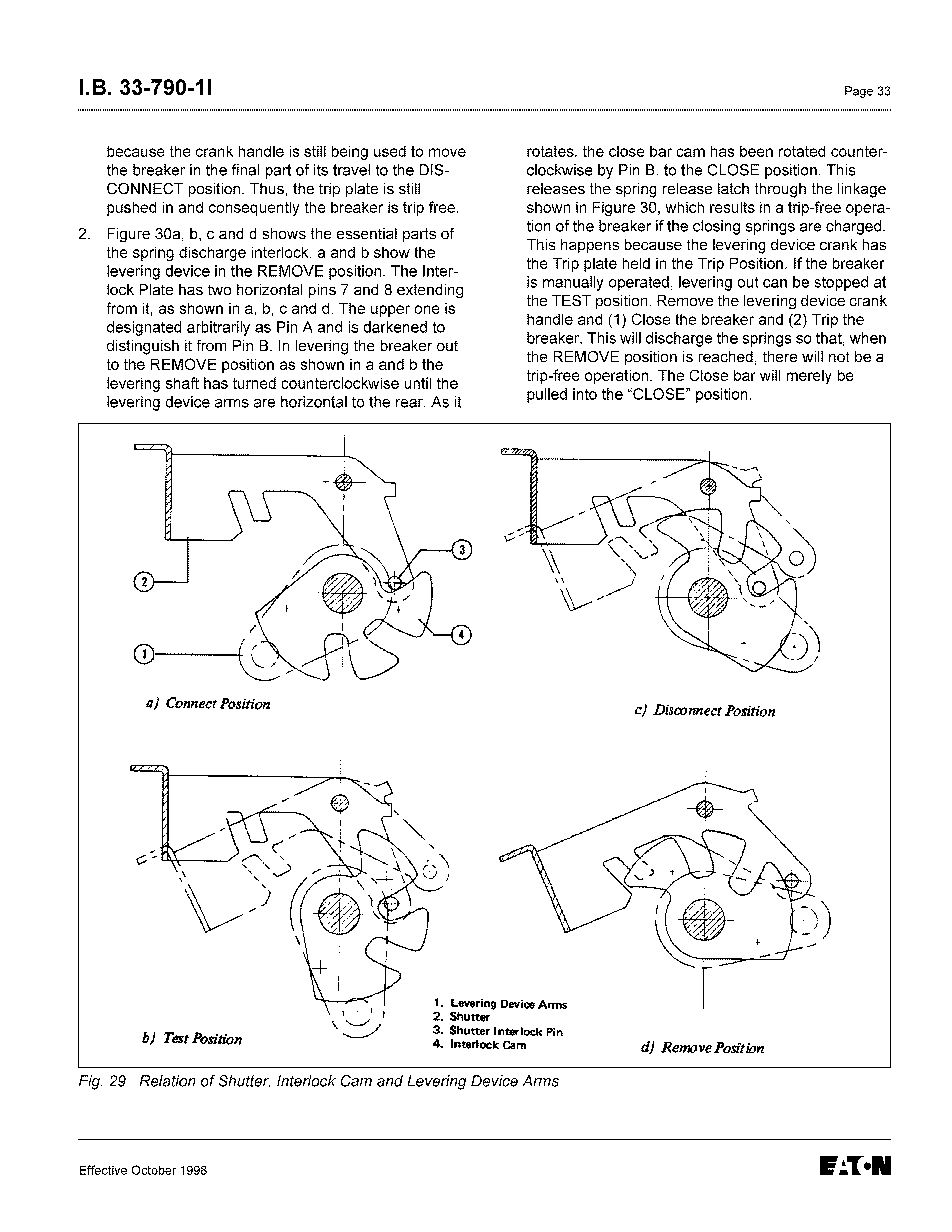 instructions for low voltage power circuit breakers types ds and dsl Automotive 12V Circuit Breaker 1 8 33 790 11 page 33 because the crank handle is still being