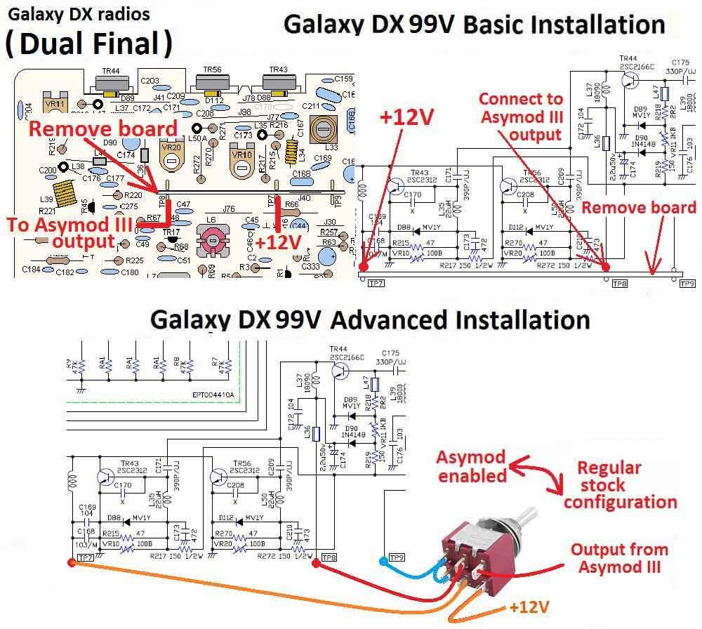 Asymod Iiis Asymmetrical Hi Fi Am Modulator And 50w Rf Output Stage Connect The Iii To Dpdt Switch Board Ground As Seen On Fig 9 Above Refer Fig8 For Tp7 Tp8 Location Galaxy Section