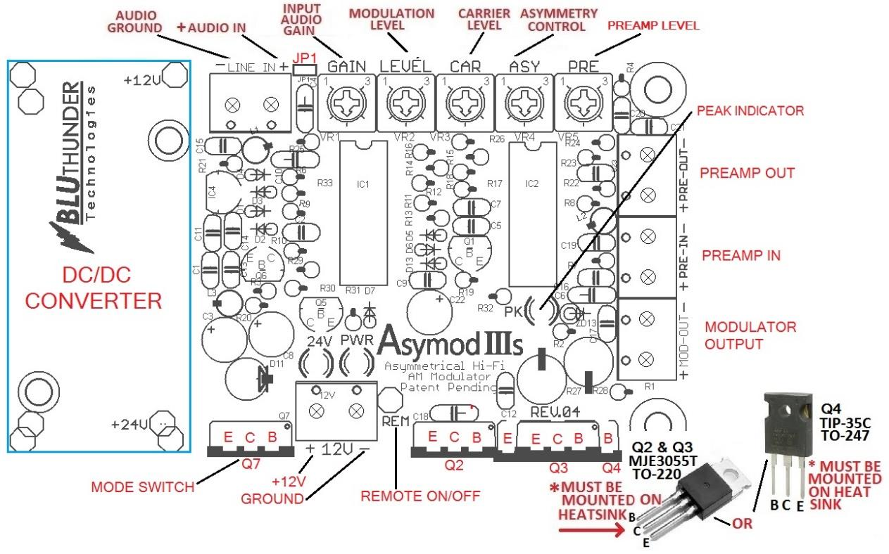 Asymod Iiis Asymmetrical Hi Fi Am Modulator Circuit Audio Processing For Base Operation Is Possible With The Use Of Rack Gear Or