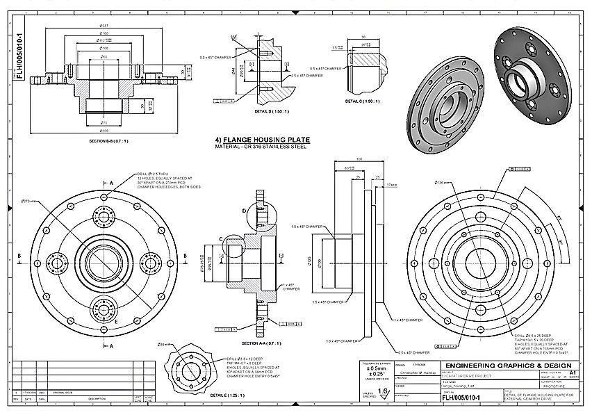 engineering drawing me course credits pdf