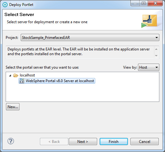 deploying application on websphere portal server to deploy the stock sample application 1 right