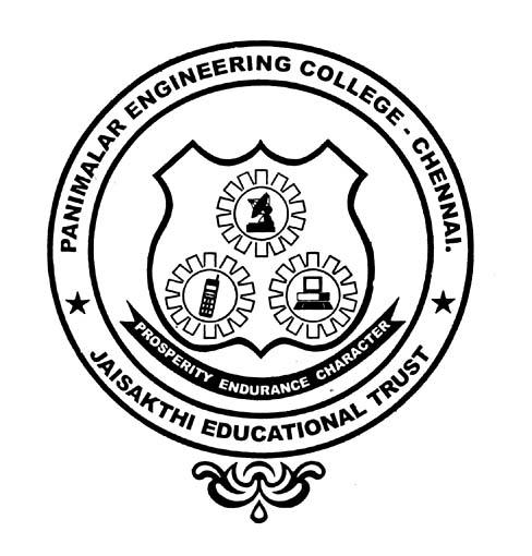 Panimalar Engineering College A Christian Minority Institution