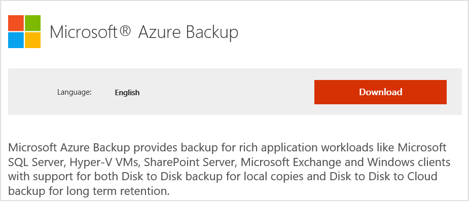 Overview What is Azure Backup? Get started Back up files and