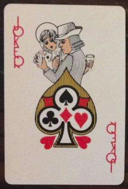 a deck of playing cards.