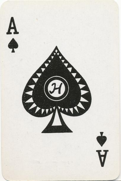The fronts are regular playing cards.