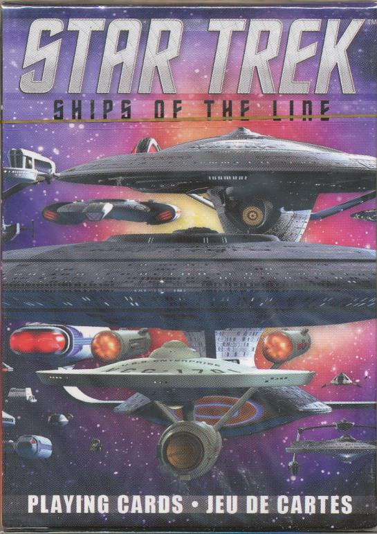 6. Ships of the Line (2015) Designed in Canada and manufactured in China, the backs of these cards show various Star Trek ships while the fronts show (mostly) individual ships.