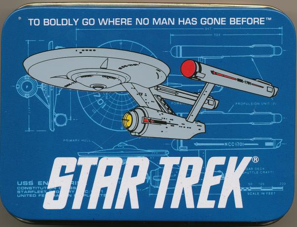 drawing of the Enterprise on the back. The fronts are regular playing cards.