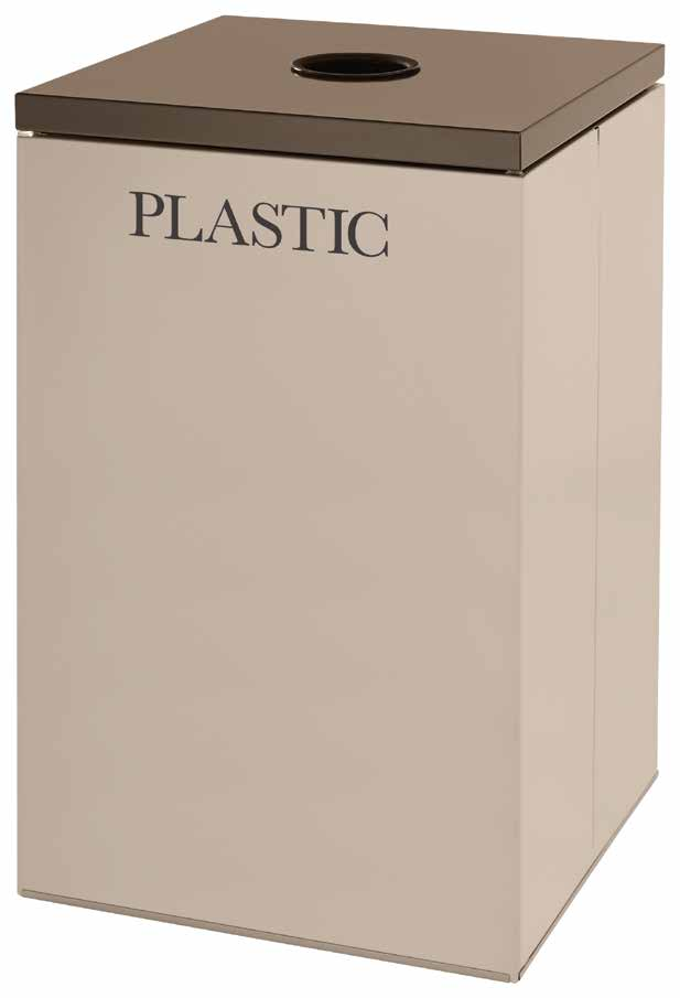 28 1//2 gal Cans//Plastic Rubbermaid Commercial Products FGNC30C3 Collect-A-Cube Customizable Recycling Containers