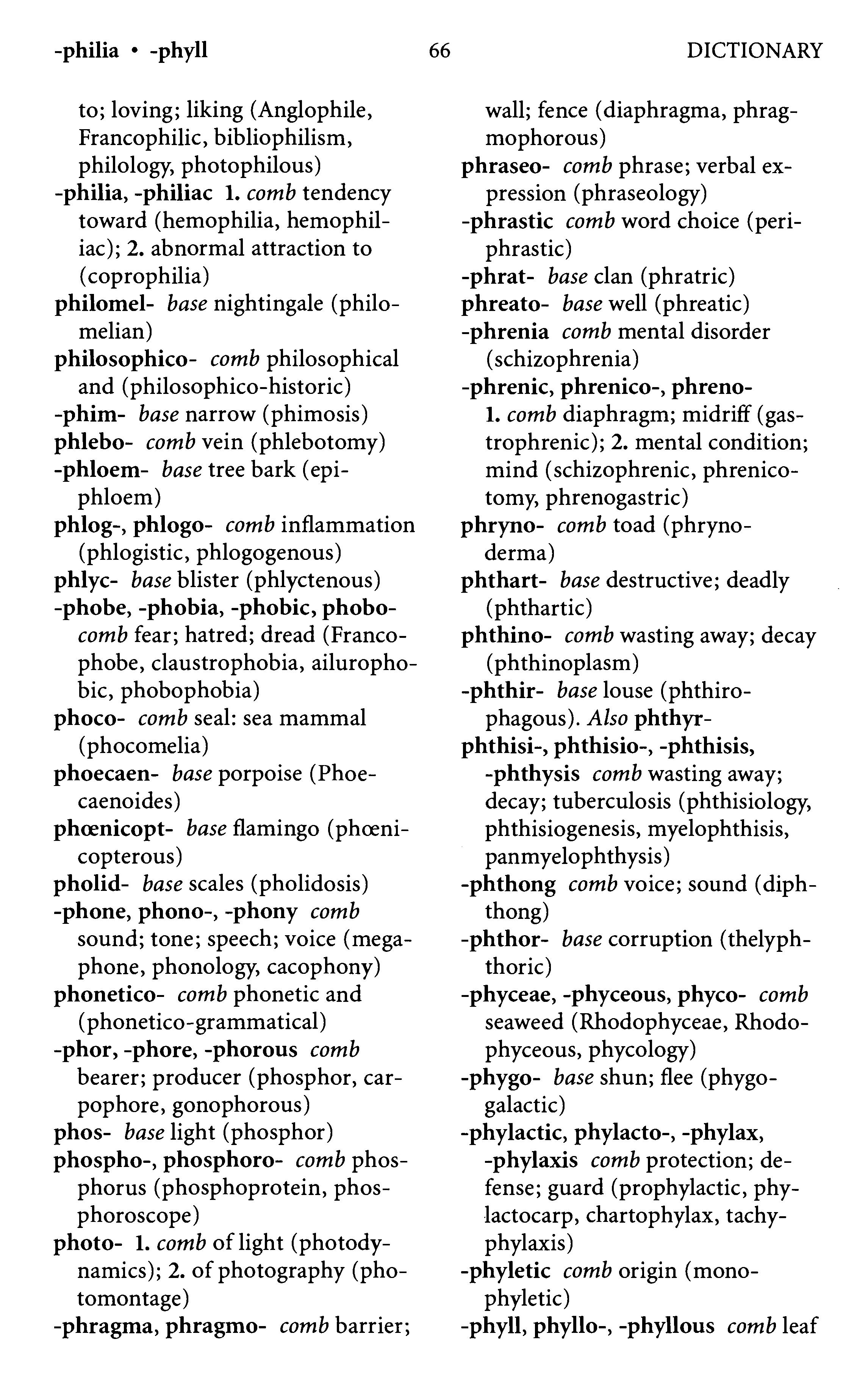 Word Parts Dictionary - PDF