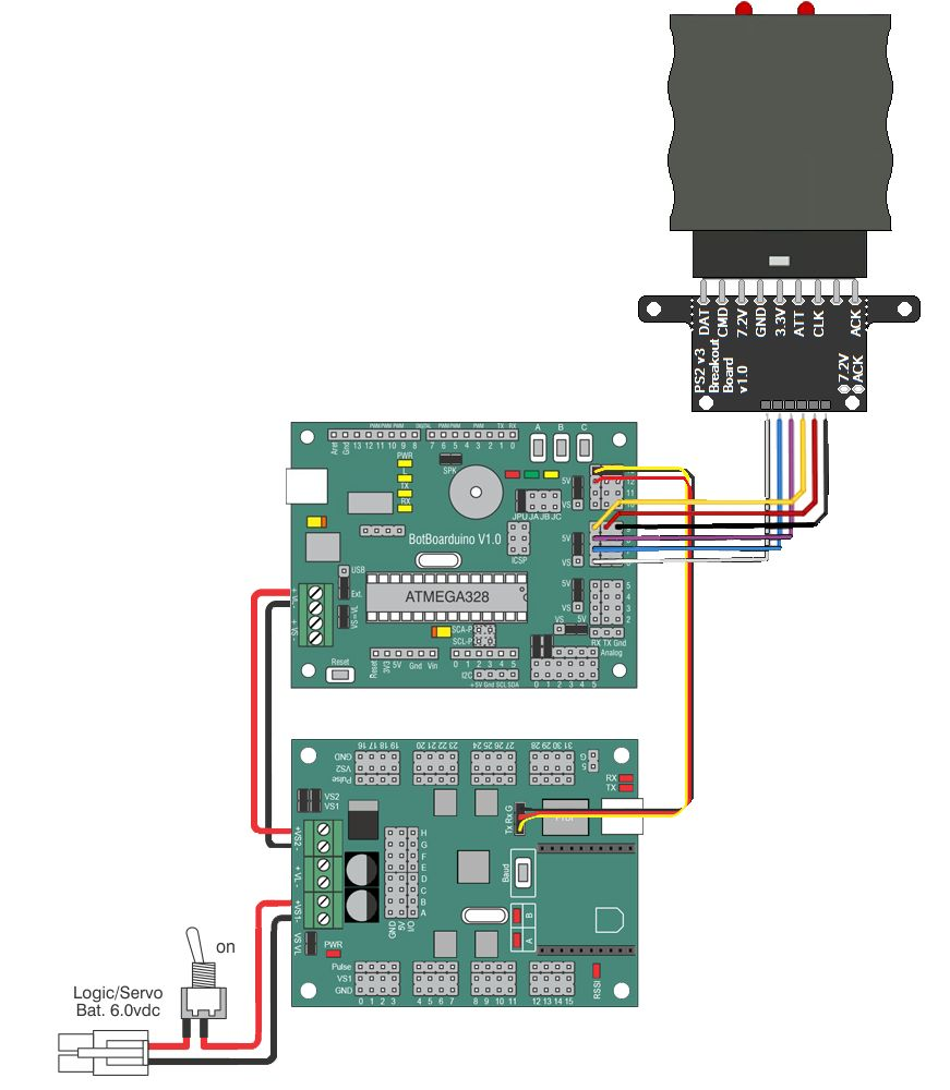 Lynxmotion Ssc 32u Usb Servo Controller Board Pdf Ps2 Wiring Diagram In Addition To Botboarduino The Can Be Used With