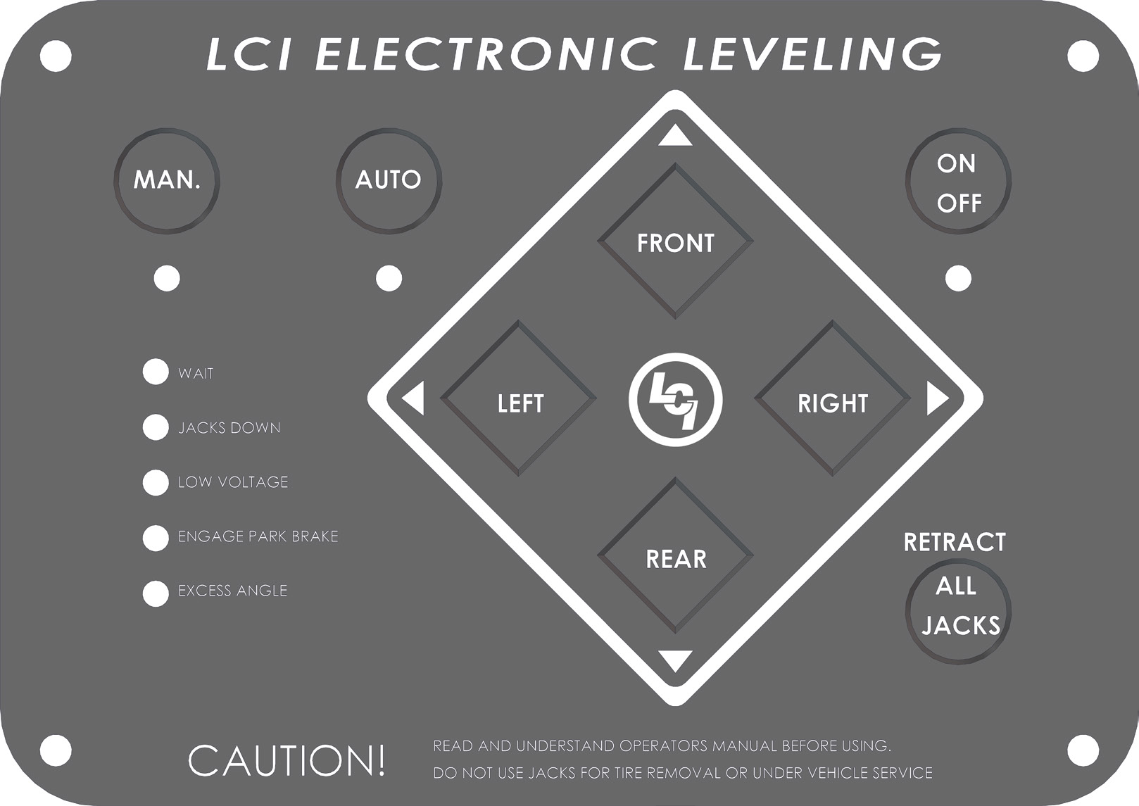 OWNER'S MANUAL  LCI Motorized Leveling ( Present) Page 1