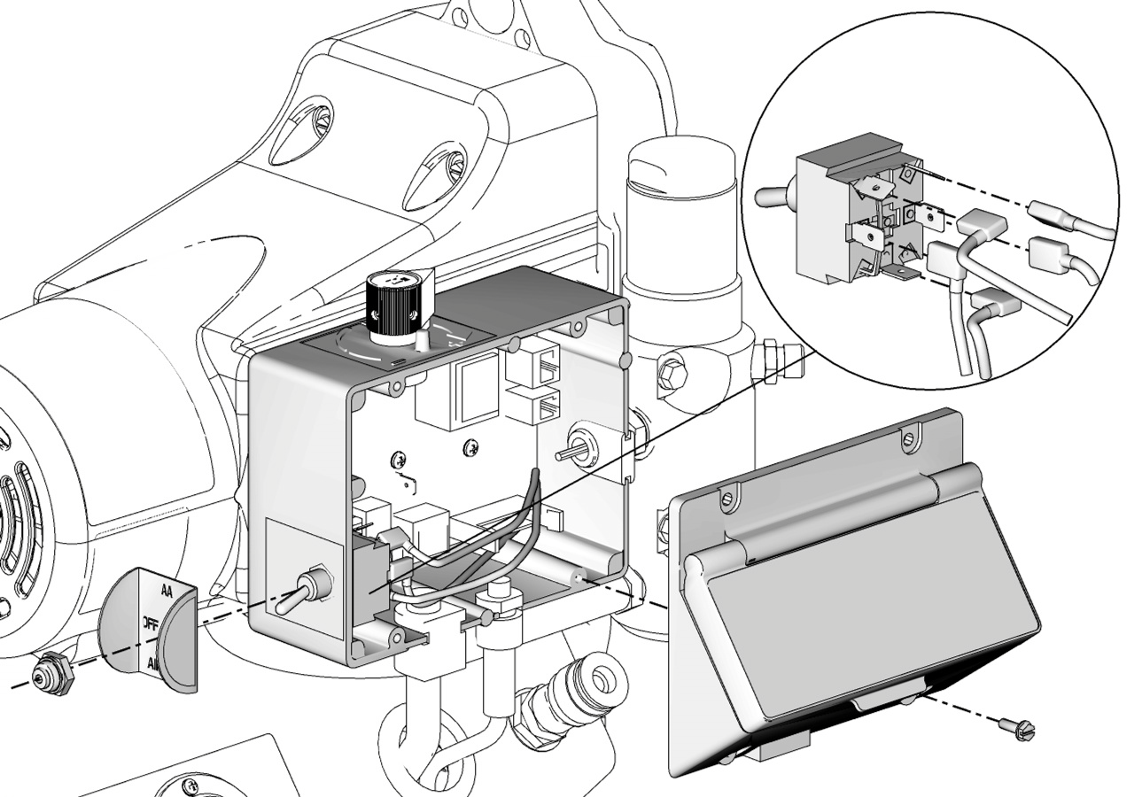 finishpro 390 395 airless air assisted sprayer pdf Murphy Switch Wiring Diagram on off switch replacement on off switch replacement see wiring diagram page 36