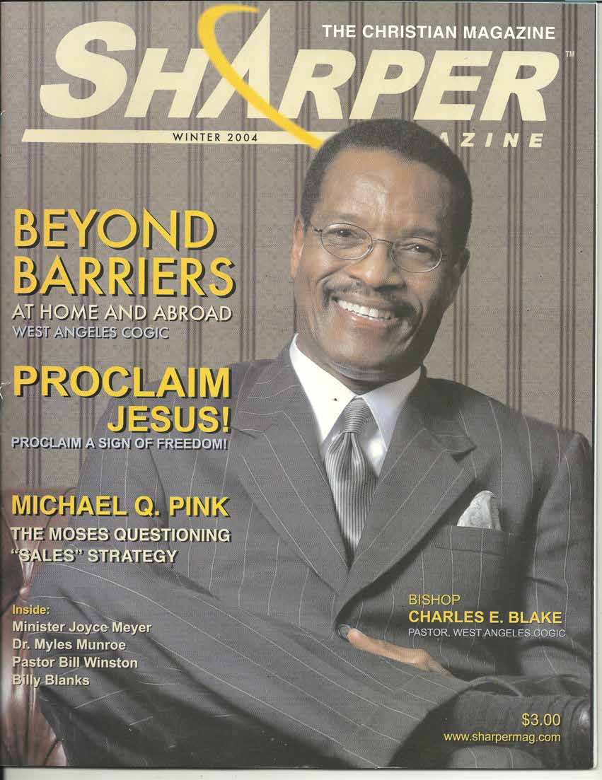 Table of CONTENTS  Presiding Bishop Charles E  Blake and the