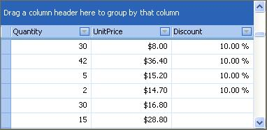 Examples  Products  WinForms Controls > Products > Data Grid