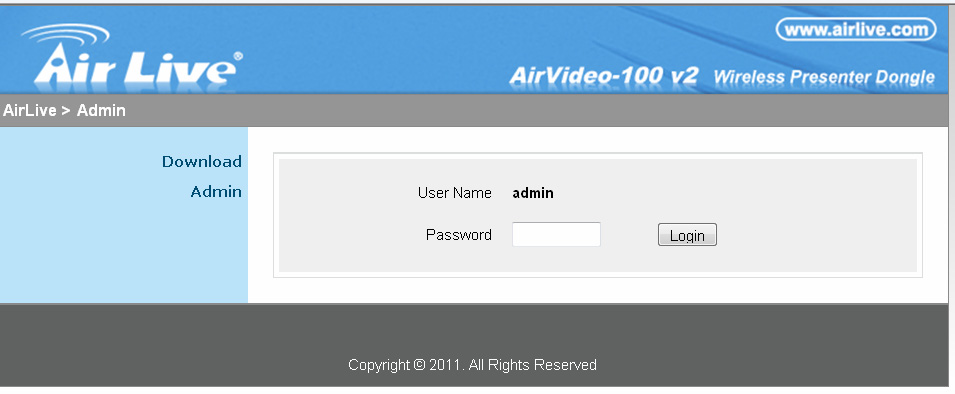 AirLive AirVideo-100v2 Presenter Dongle Drivers for Windows XP